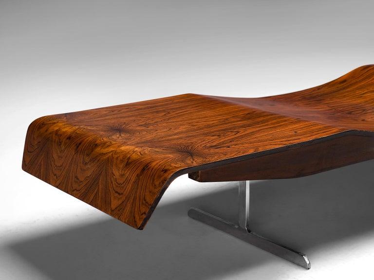 Jorge Zalszupin 'Onda' Bench in Rosewood For Sale 4