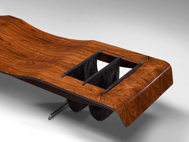 Jorge Zalszupin 'Onda' Bench in Rosewood For Sale 1