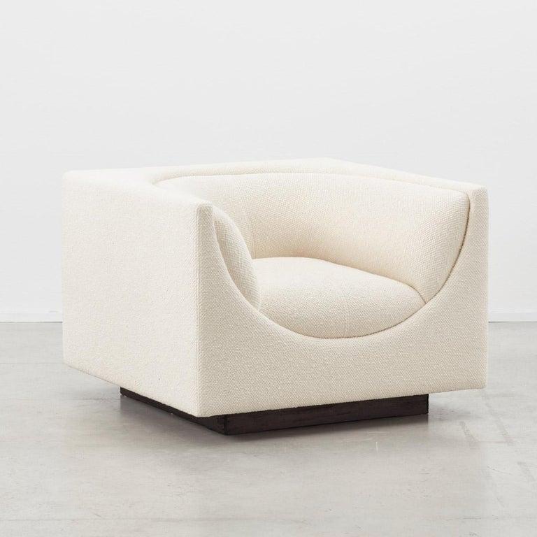 Brazilian Jorge Zalszupin Pair of Cubo Chairs L'Atelier Brazil, Brazil, 1970 For Sale