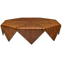 Jorge Zalszupin 'Pétalas' Coffee Table in Rosewood