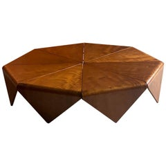 Jorge Zalszupin Petalas Imbuia Coffee Table by L' Atelier, circa 1960