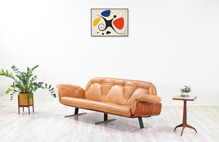 "Mid-Century Modern Jorge Zalszupin ""Presidencial"" Rosewood Sofa for L'Atelier For Sale"