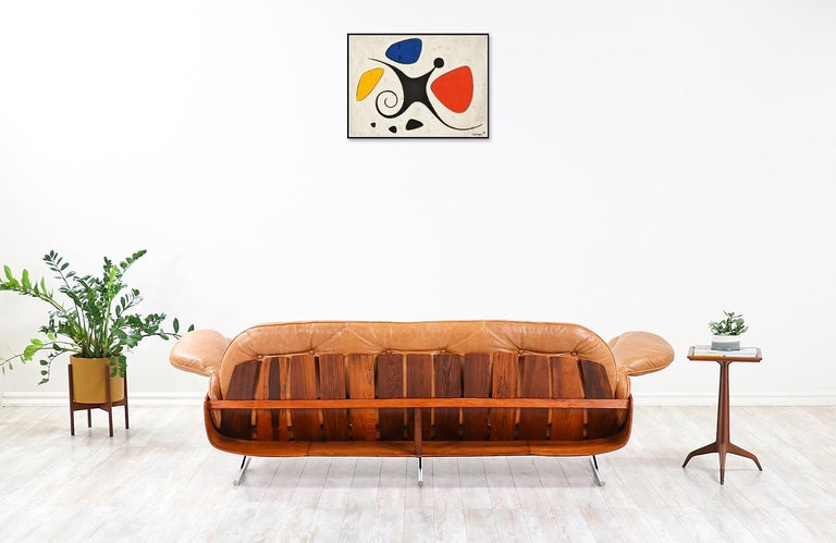 "Jorge Zalszupin ""Presidencial"" Rosewood Sofa for L'Atelier In Excellent Condition For Sale In Los Angeles, CA"