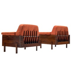 Lineart Moveis e Decoracoes Pair of Rosewood Armchairs Reupholstered