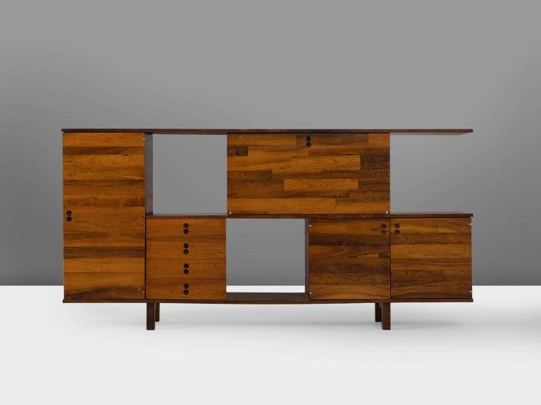 Mid-Century Modern Jorge Zalszupin Rosewood Room Divider For Sale