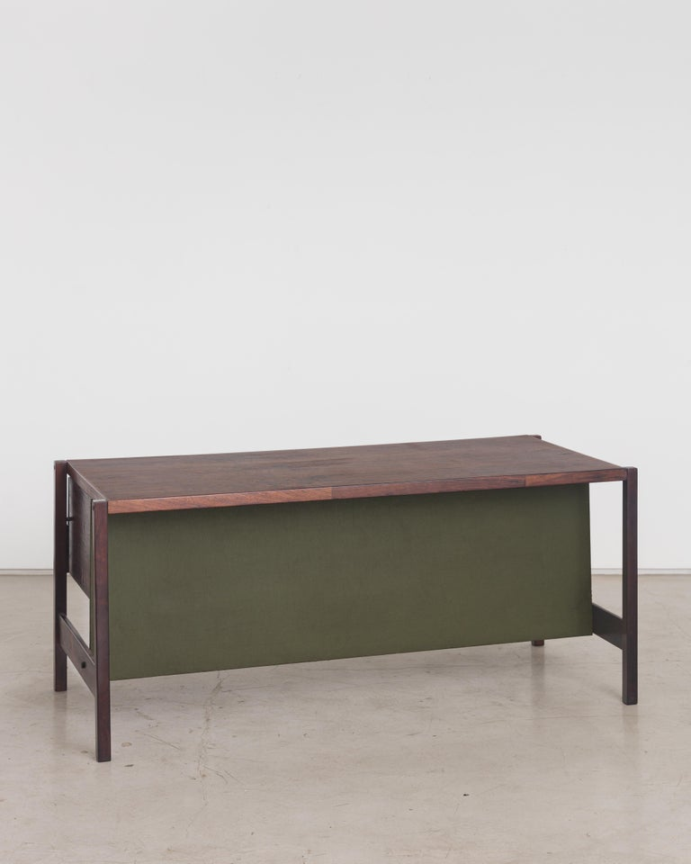 Mid-Century Modern Jorge Zalszupin Rosewood Vintage Office Desk For Sale