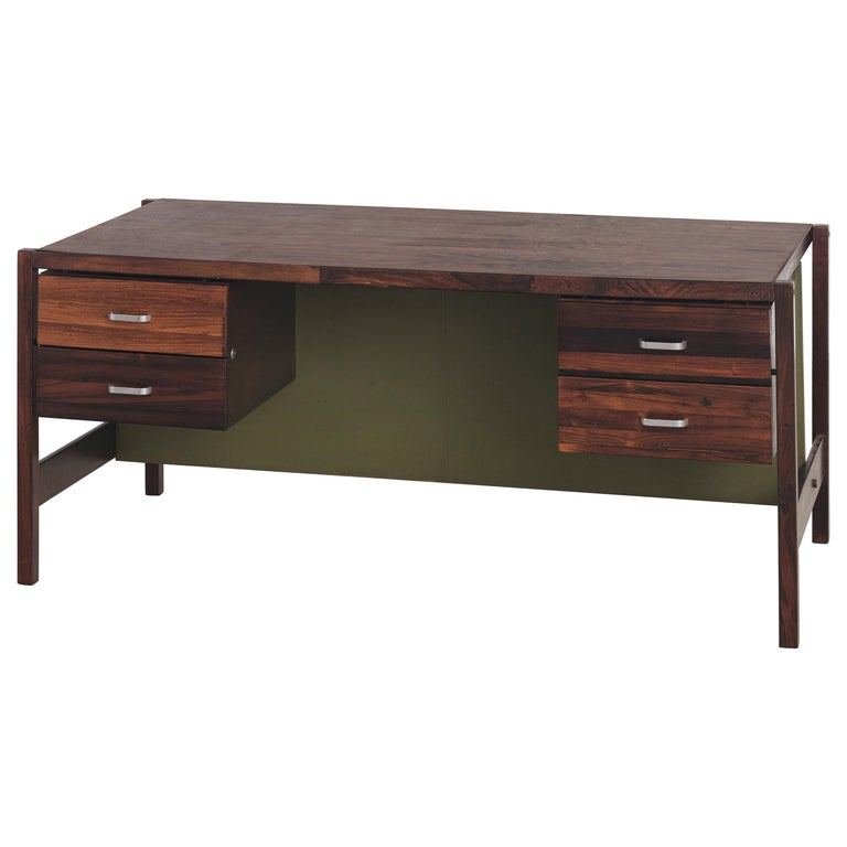 Jorge Zalszupin Rosewood Vintage Office Desk For Sale