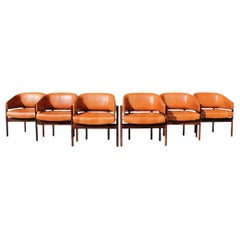 "Jorge Zalszupin for L'Atelier ""Senior"" Armchairs Rosewood and Leather 60's."