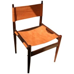 Jorge Zalszupin, Set of Ten Jockey Chairs Made of Solid Rosewood Leather Seating