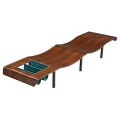 Jorge Zalszupin Small 'Onda' Bench in Rosewood
