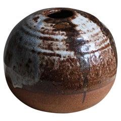 Jörgen Finn Petersen, Studio Vase, Glazed Stoneware, Denmark, 1960s
