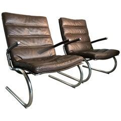 Jorgen Kastholm Leather Armchairs