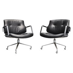 Jorgen Kastholm Preben Fabricius FK84 Swivel Desk Chair, 1968