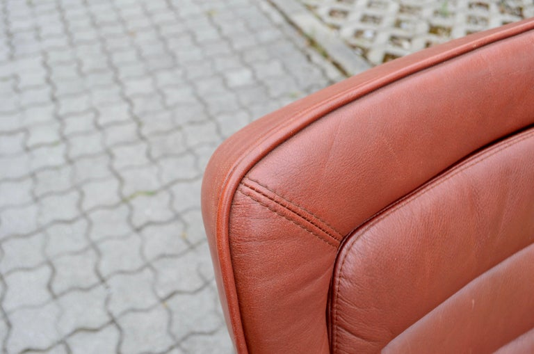Jorgen Kastholm Red Leather Armchair Chair Modell 8400 for Kusch + Co Set of 2 For Sale 9