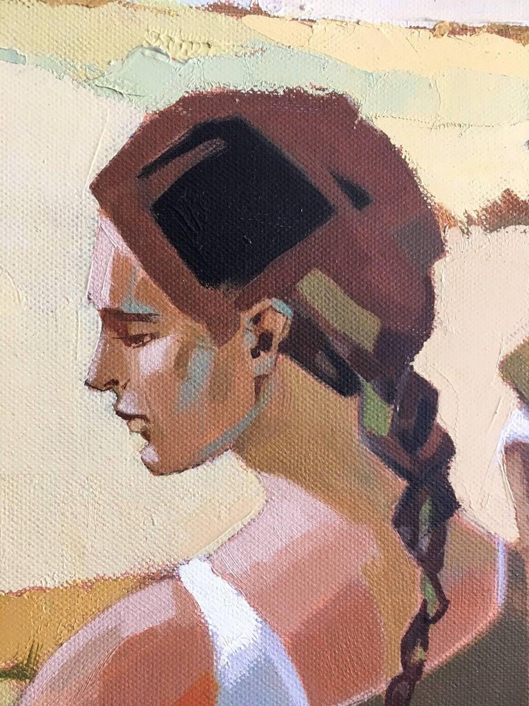 After summer - Brown Landscape Painting by Jori Duran