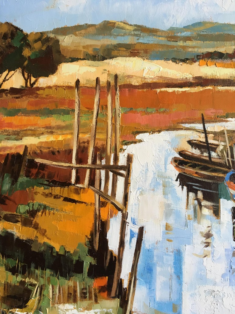 The canal - Painting by Jori Duran