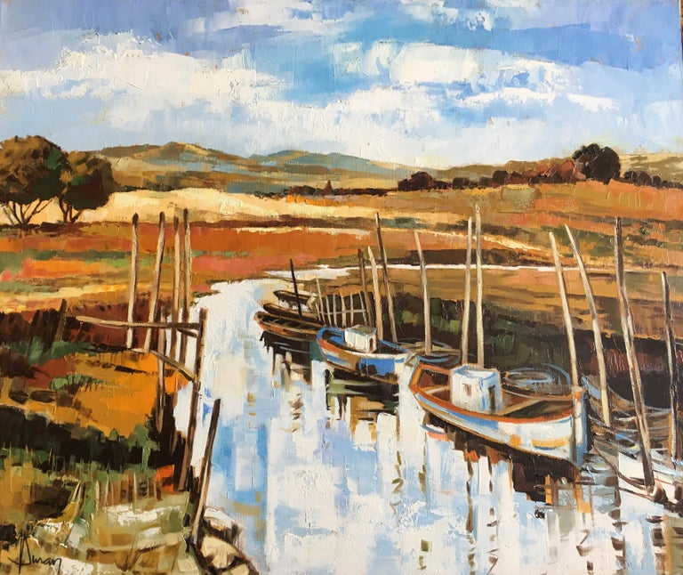 Jori Duran Landscape Painting - The canal