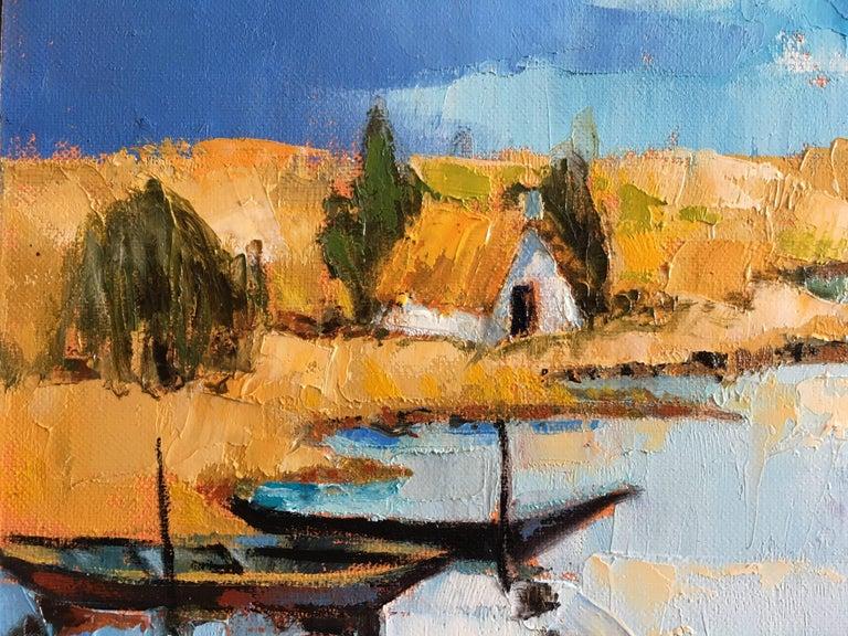 The fishermen's lagoon - Painting by Jori Duran