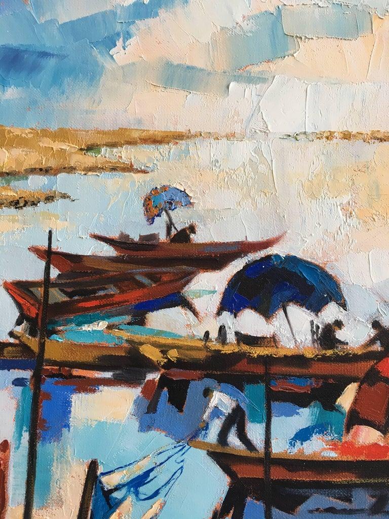 The fishermen's lagoon - Expressionist Painting by Jori Duran