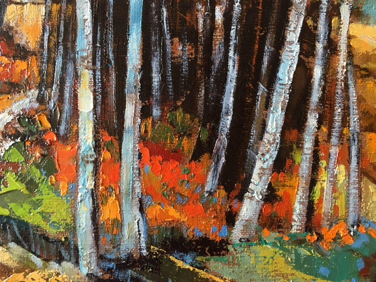 The timber, French expressionist oil on canvas For Sale 1