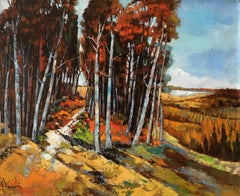 The timber, French expressionist oil on canvas
