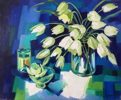 White harmony, still life expressionst style