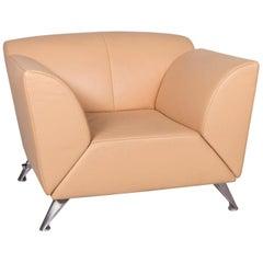 Jori Leather Armchair Beige