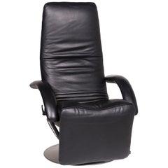 JORI Leather Armchair Black Relax Function Massage Function Massage Chair