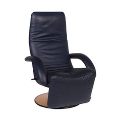 JORI Leather Armchair Blue Relax Function Function