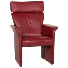 JORI Leather Armchair Red