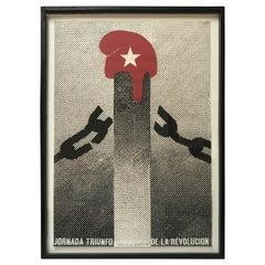"""Jornada Triunfo de la Revolucion"" Original Dedicated Poster"