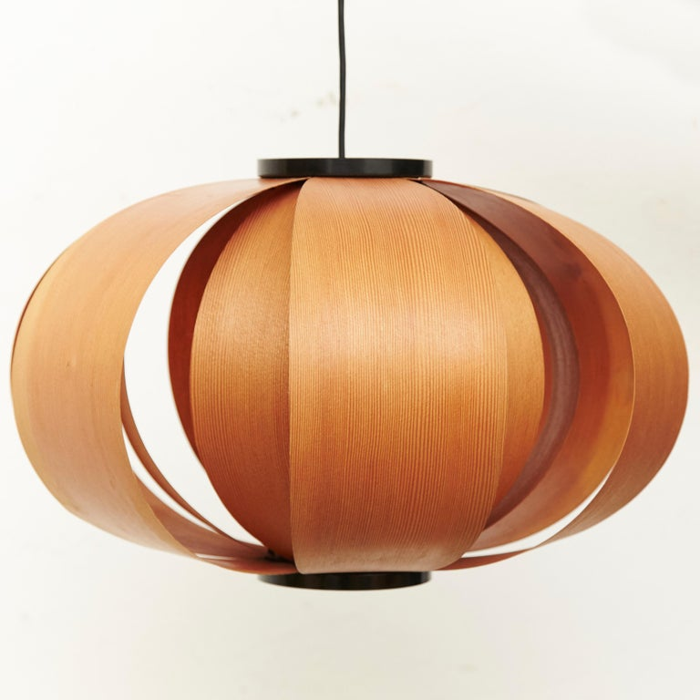 Mid-Century Modern Jose Antonio Coderch Wood Lamp 'Disa,' circa 1950 For Sale