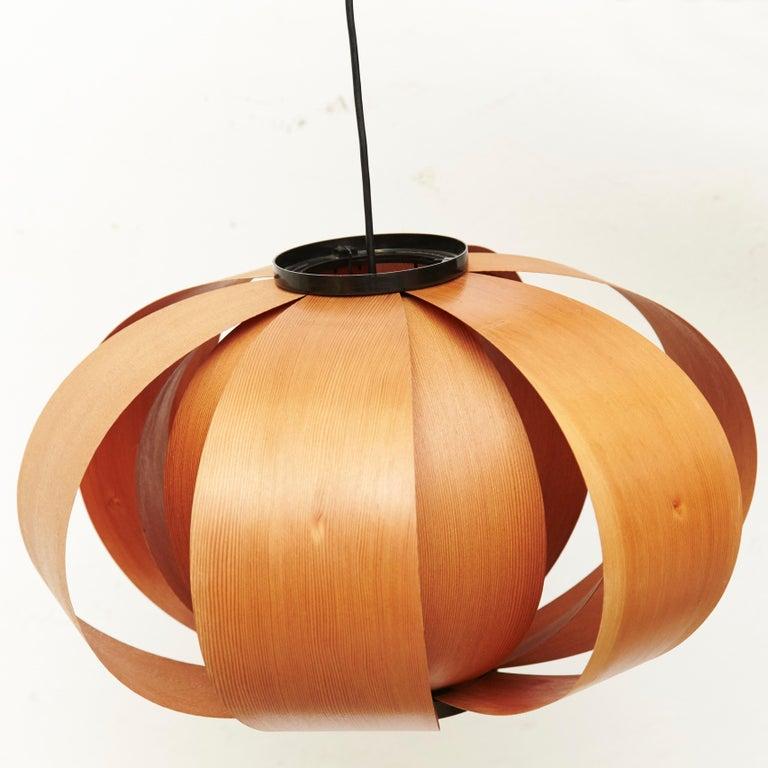 Spanish Jose Antonio Coderch Wood Lamp 'Disa,' circa 1950 For Sale