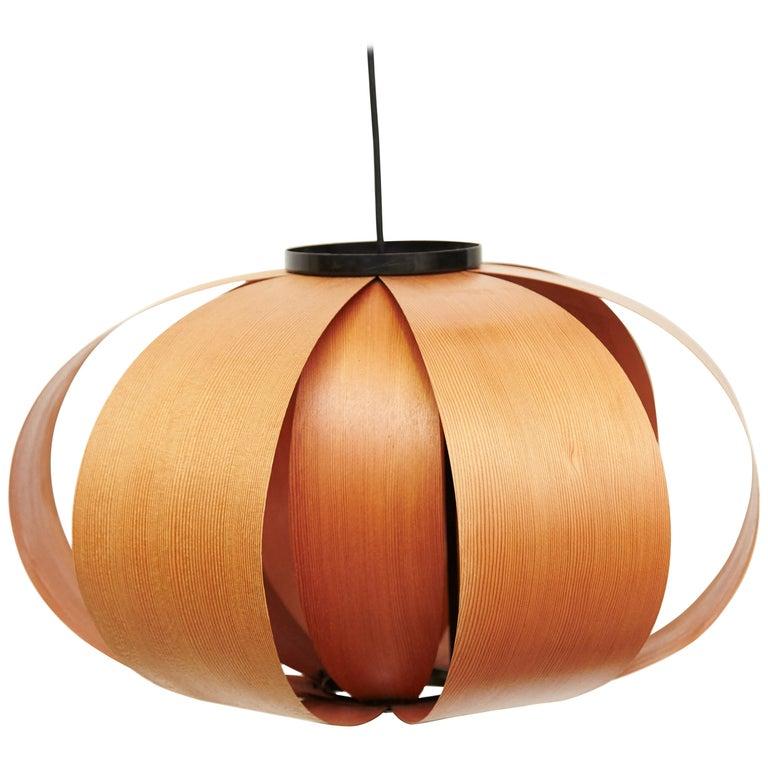 Jose Antonio Coderch Wood Lamp 'Disa,' circa 1950 For Sale