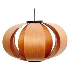 Jose Antonio Coderch Wood Lamp 'Disa,' circa 1950
