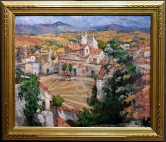 """""""ALGECIRAS"""" PORT CITY IN THE SOUTH OF SPAIN.  MUSEUM EXHIBITED PAINTING"""