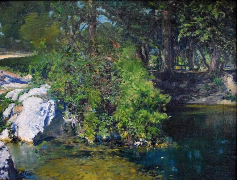 "Jose Arpa Landscape Painting - ""Brackenridge Park"" San Antonio Texas."
