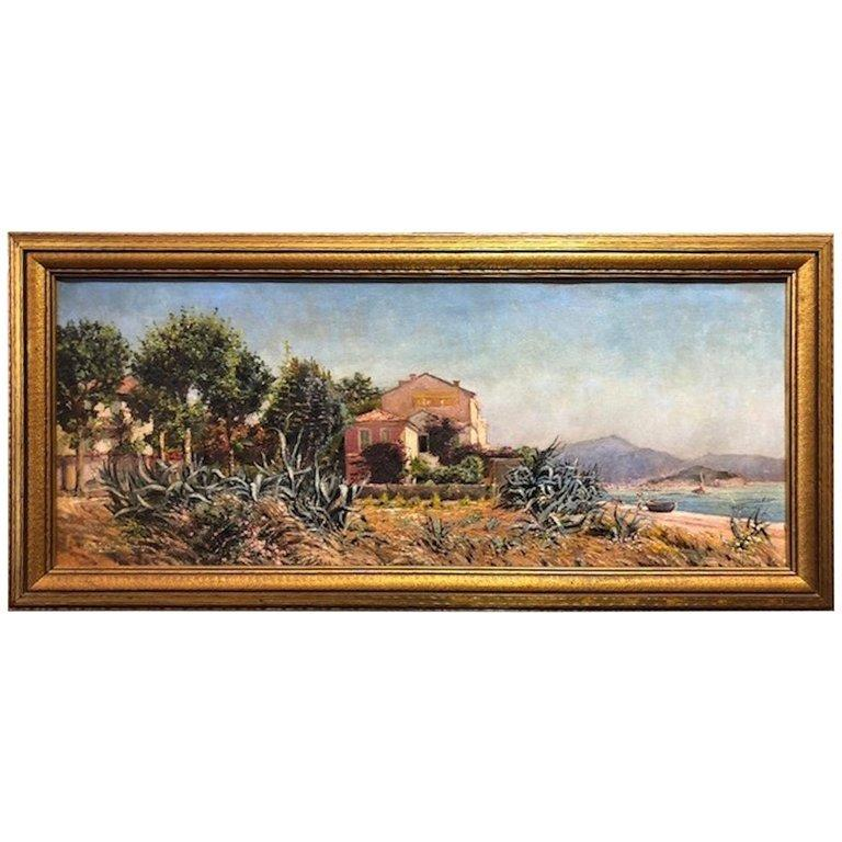 Jose Arpa Landscape Painting - House by the Lake