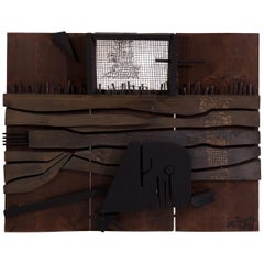 Jose Bermudez Mixed-Media Wall Hanging