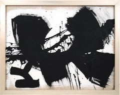 Jose Buelo, Untitled, Black and White Abstract on Canvas, 2018