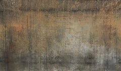 Now Never Ends- 39 X 67- Taupe, greys and cinnamon