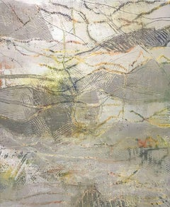 Sotto Voce- 49 x 60 Grey and soft yellow