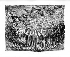 """""""Las Masas"""", José Clemente Orozco, Lithograph, Mexican Modern Art"""