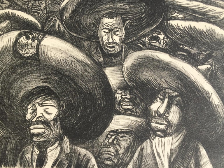 ZAPATISTAS aka Generalas - Expressionist Print by Jose Clemente Orozco
