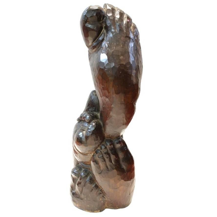 Jose de Creeft Carved Wood Sculpture of Feet