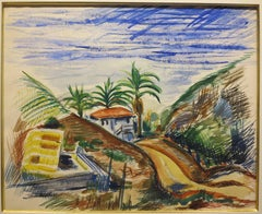 California Landscape, Hacienda, Santa Barbara CA, 1943