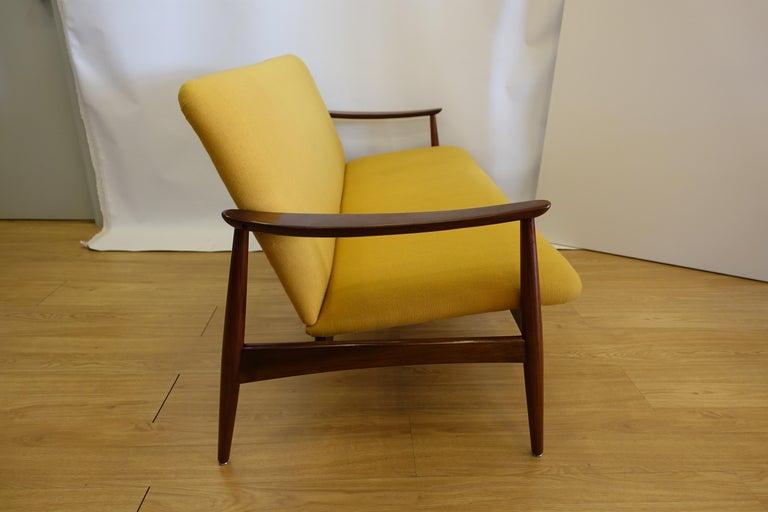 Jos 233 Espinho Midcentury Yellow Fabric Quot Olaio 67 Quot Sofa For