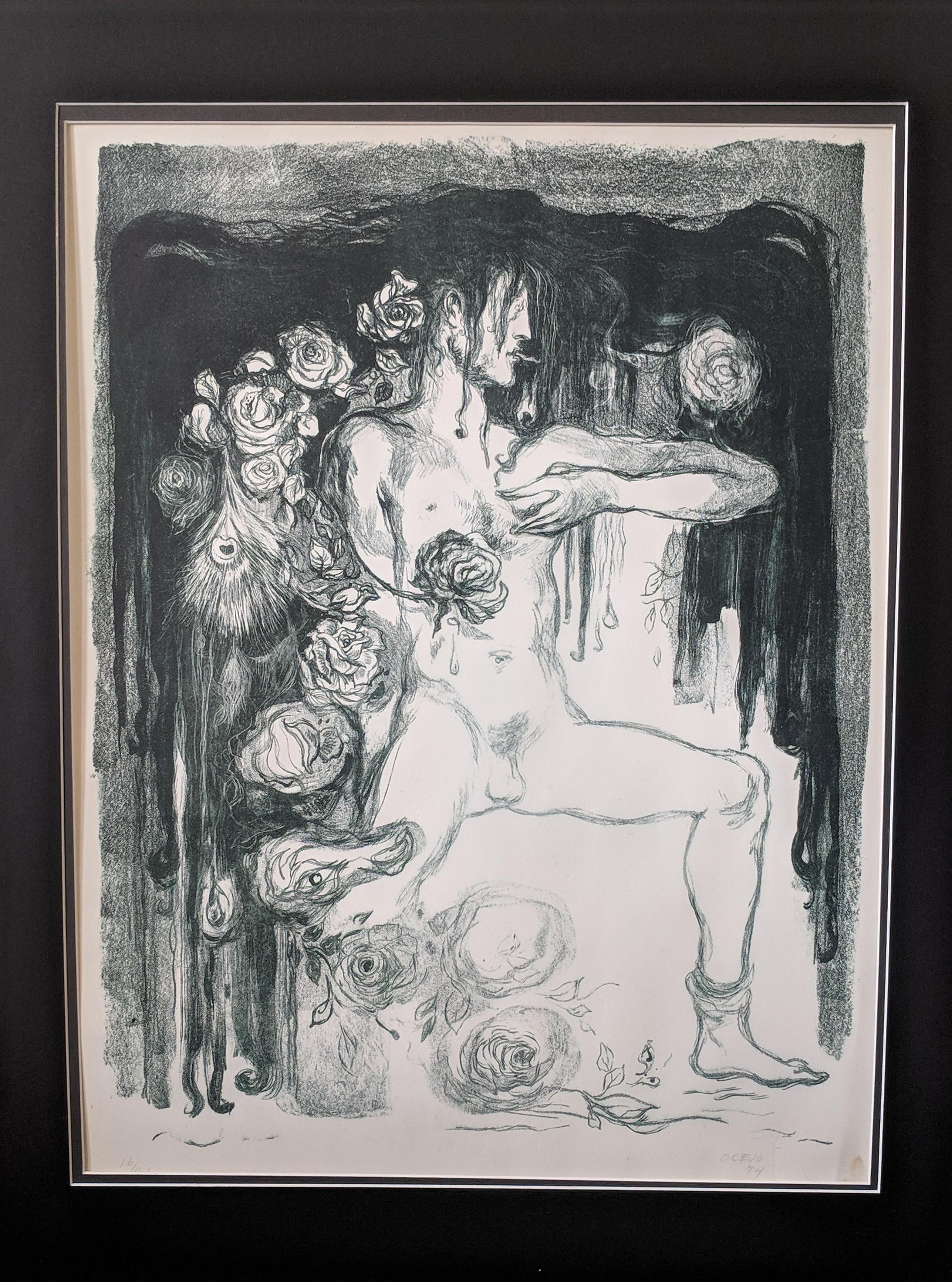 Lithograph by Noted Mexican Artist - No Title 16/24