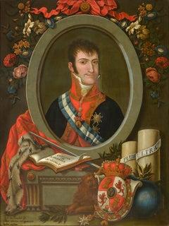 Portrait of King Ferdinand VII of Spain by Jose Gil de Castro, Peruvian 1817