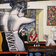 "Dreamy Reimagining of Hopper's ""Nighthawks"" // ""Phillies"""